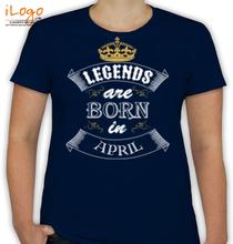 Birthday legend-born-in-april T-Shirt