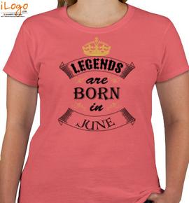 legend born in jun - T-Shirt [F]