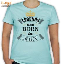 Birthday legend-born-in-july. T-Shirt