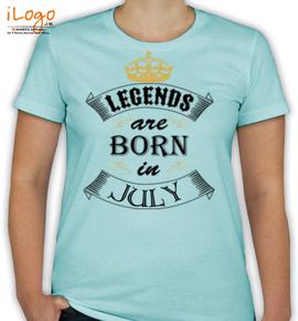 legend born in july. - T-Shirt [F]