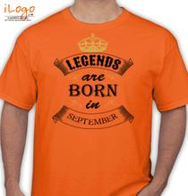 Birthday legend-are-born-in-september T-Shirt