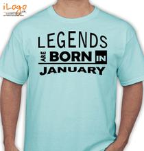 Birthday legend-bornin-january T-Shirt