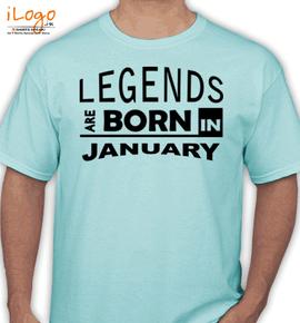 legend bornin january - T-Shirt