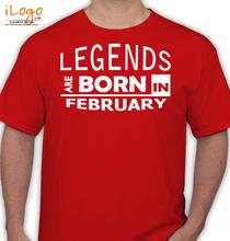 Birthday legend-borin-february T-Shirt