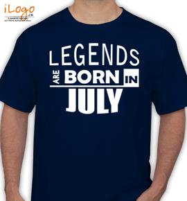 legend bornin july - T-Shirt