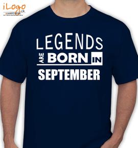 legend bornin september - T-Shirt