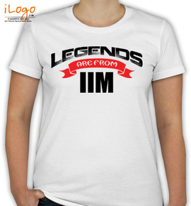 legends are from IIM - T-Shirt [F]