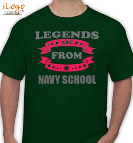 legends from navy school - T-Shirt