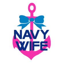Navy Wife navy-wife-pink-anchor T-Shirt