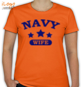 navy wife in royal blue. - T-Shirt [F]
