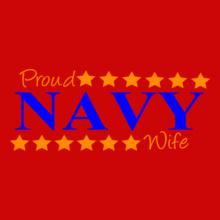 Navy Wife proud-navy-wife-stars T-Shirt