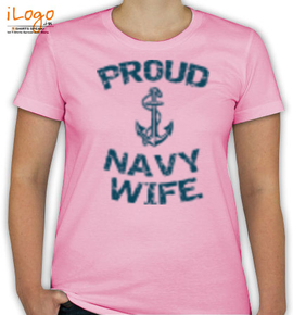 anchor with navy wife - T-Shirt [F]