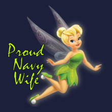 Navy Wife proud-navy-wife-tenker-bell T-Shirt
