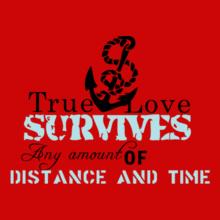 Navy Wife true-love-survive T-Shirt