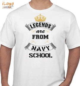 legend are from navy school - T-Shirt