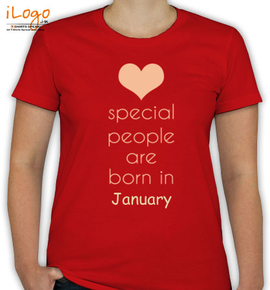 special people born in january - T-Shirt [F]