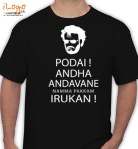 Rajini-the-super-hero - T-Shirt