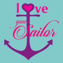 Navy Wife anchor-love-your-sailor T-Shirt