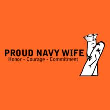 Navy Wife finger-couple T-Shirt