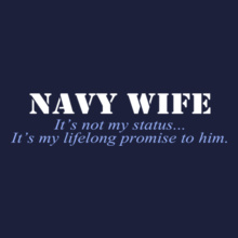 navy-wife-its-not-my-status T-Shirt