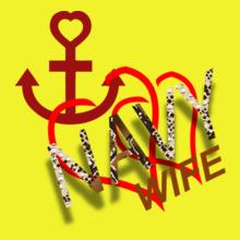 anchor-heart-navy-wife. T-Shirt