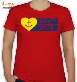 yellow heart with anchor - T-Shirt [F]