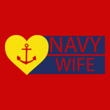 Navy Wife yellow-heart-with-anchor T-Shirt