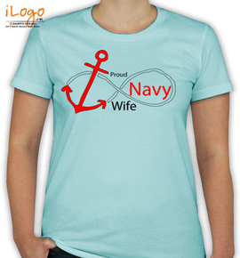 proud navy wife in - T-Shirt [F]