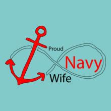 Navy Wife proud-navy-wife-in T-Shirt