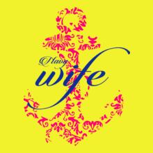 Navy Wife designer-anchor T-Shirt
