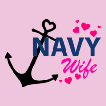 Navy Wife anchor-n-hearts T-Shirt