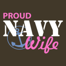 Navy Wife proud-navy-wife-with-anchor-in-circle T-Shirt