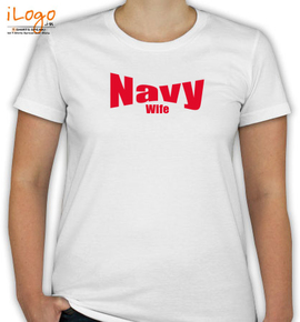 navy wife in red. - T-Shirt [F]