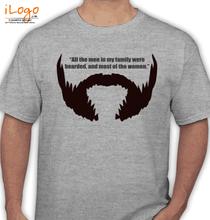 Beard bearded-are-mens. T-Shirt