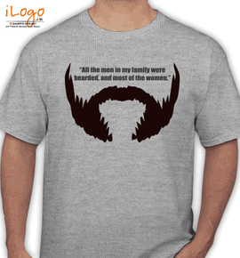 bearded-are-mens. - T-Shirt