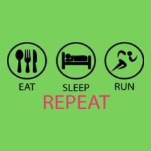 eat-sleep-run-repeat T-Shirt