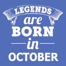 LEGENDS-BORN-IN-october T-Shirt