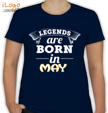LEGENDS-BORN-IN-May T-Shirt