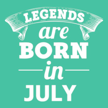 LEGENDS-BORN-IN-july T-Shirt