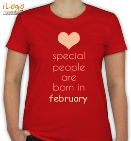 special people born in february. - T-Shirt [F]