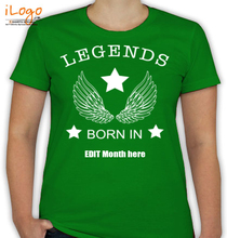 Birthday legends-with-your-birth-date T-Shirt