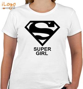 super girl - Custom Girls T-Shirt