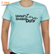 Air Force Wife unite-by-love-divided-by-duty T-Shirt