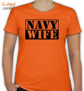 navy wife stencil. - T-Shirt [F]