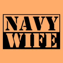 Navy Wife navy-wife-stencil. T-Shirt