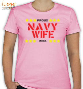 proud navy wife india - T-Shirt [F]