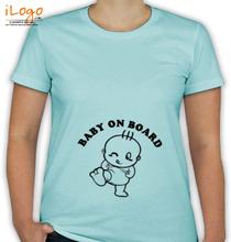 Peek a boo baby-on-board-in-black T-Shirt