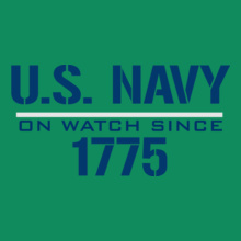 Navy On-watch-since T-Shirt