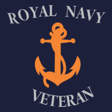 Navy Royal-veteran T-Shirt