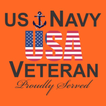 Navy Us-proudly-served T-Shirt